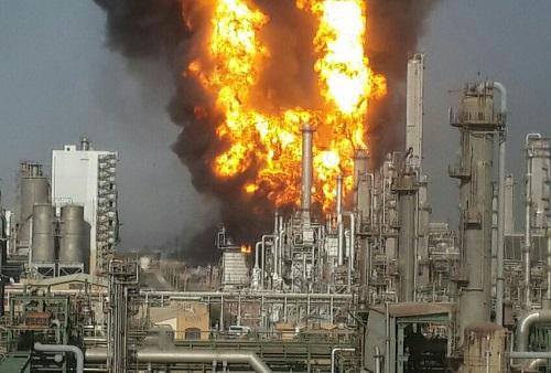 آمادهباش برای انفجار دوم در مجتمع پتروشیمی خلیجفارس/فیلم