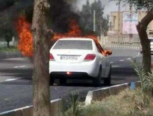 پیگیری ایساکو درباره ی آتش زدن خودروی دنا در دهلران