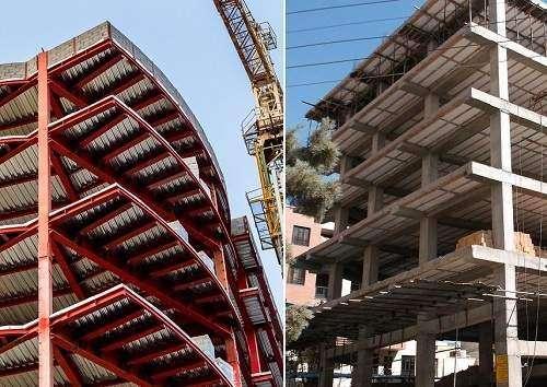 ساختمان با اسکلت بتنی بهتر است یا اسکلت فلزی؟